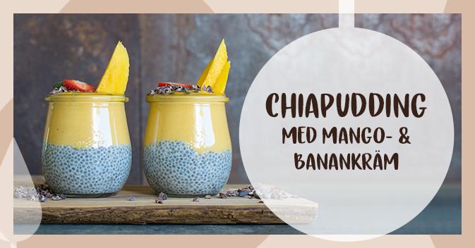 Recept på chiapudding med mango- och banankräm