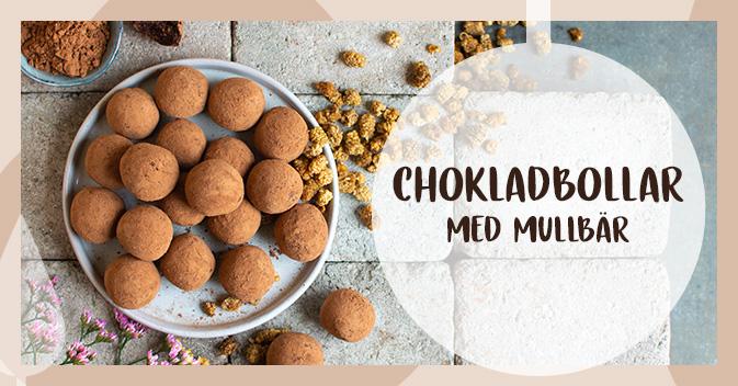 Recept på chokladbollar med mullbär