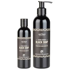 Akoma Liquid Black Soap with Organic Raw Shea Butter