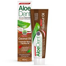 AloeDent Aloe Vera Triple Action Coconut Toothpaste, 100 ml