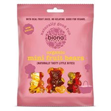 Biona Vingummi Mini Fruit Bears, 75 g