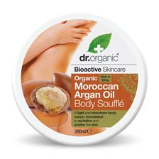 Dr. Organic Moroccan Argan Oil Body Soufflé, 200 ml