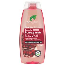 Dr. Organic Pomegranate Body Wash, 250 ml