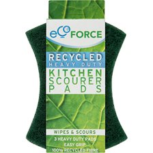 Ecoforce Skrubbsvamp grov, 3-pack