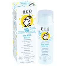 Eco Cosmetics Ekologisk Solkräm Neutral för barn SPF 50+, 50 ml
