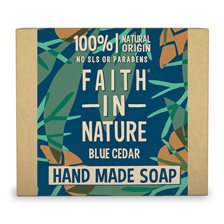 Faith in Nature Blue Cedar Hand Made Soap, 100 g