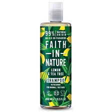 Faith in Nature Lemon & Tea Tree Shampoo, 400 ml