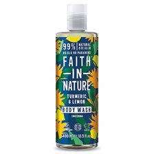 Faith in Nature Turmeric & Lemon Body Wash, 400 ml