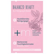 i+m Naturkosmetik Balanced Beauty 2in1 Cleansing & Mask, 2 x 4 ml