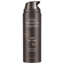 John Masters Organics Repair Hair Mask for Damaged Hair with Honey & Hibiscus, 125 g