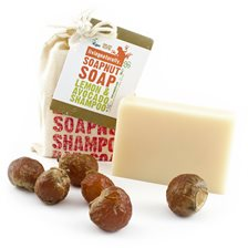 Living Naturally Lemon & Avocado Soapnut Shampoo Bar, 90 g