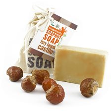 Living Naturally Bay Laurel Soapnut Soap Bar, 90 g