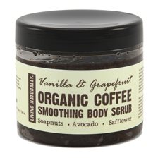 Living Naturally Vanilla & Grapefruit Coffee Smoothing Body Scrub, 200 g
