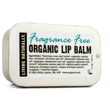 Living Naturally Fragrance Free Lip Balm, 13 g