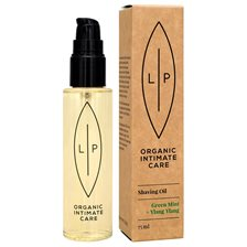 Lip Intimate Care Shaving + Moisturising Oil - Green Mint & Ylang Ylang, 75 ml