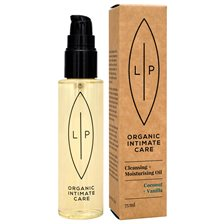 Lip Intimate Care Cleansing + Moisturising Oil - Coconut & Vanilla, 75 ml
