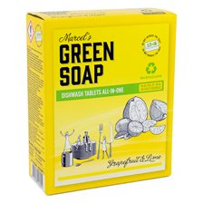 Marcel's Green Soap Diskmaskinstabletter All-In-One Grapefruit & Lime, 24 st