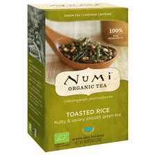 Numi Organic Tea Toasted Rice Green, 18 påsar