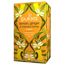Pukka Herbs Örtte Lemon, Ginger & Manuka Honey, 20 påsar
