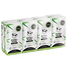 The Cheeky Panda Bamboo Pocket Tissue, 8-pack