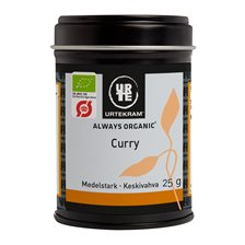 Urtekram Foods Curry Medelstark, 25 g