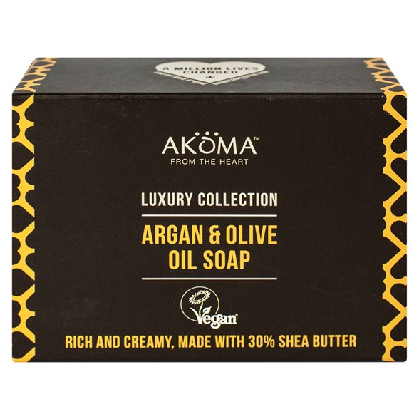 Akoma Argan & Olive Oil Soap, 105 g
