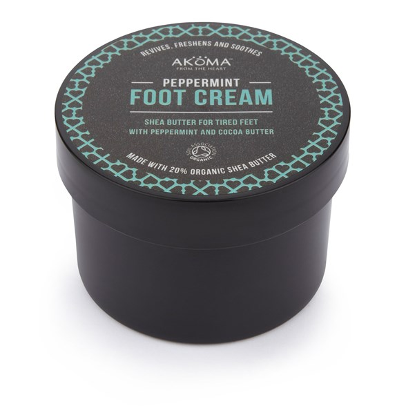 Akoma Peppermint Foot Cream with Shea Butter, 150 ml