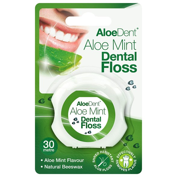 AloeDent Aloe Mint Dental Floss, 30 m