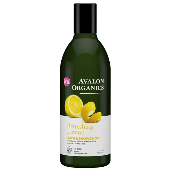 Avalon Organics Refreshing Lemon Bath & Shower Gel, 355 ml