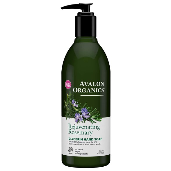 Avalon Organics Rejuvenating Rosemary Glycerin Hand Soap, 355 ml