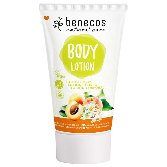Benecos Natural Body Lotion Apricot & Elderflower, 150 ml