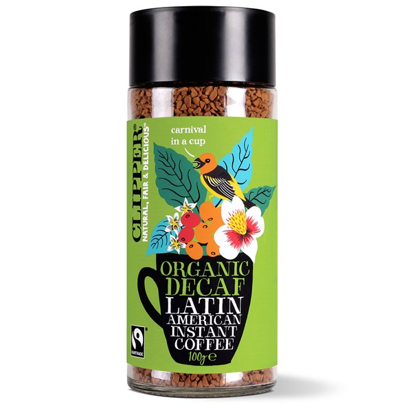 Clipper Organic Latin American Decaf Instant Coffee, 100 g