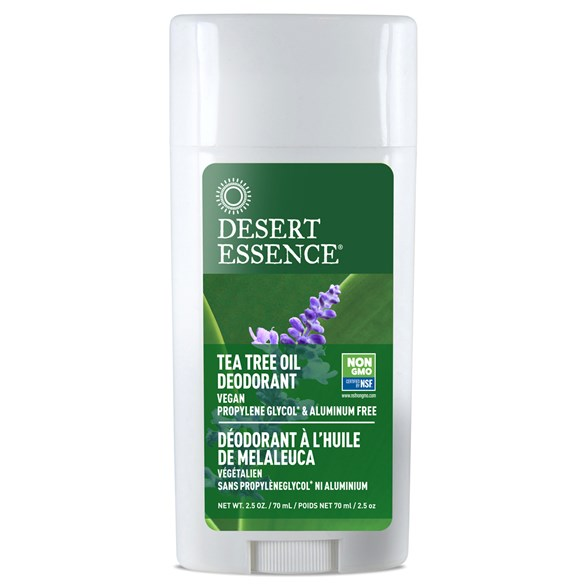 Desert Essence Tea Tree Oil Deodorant with Lavender, 70 ml