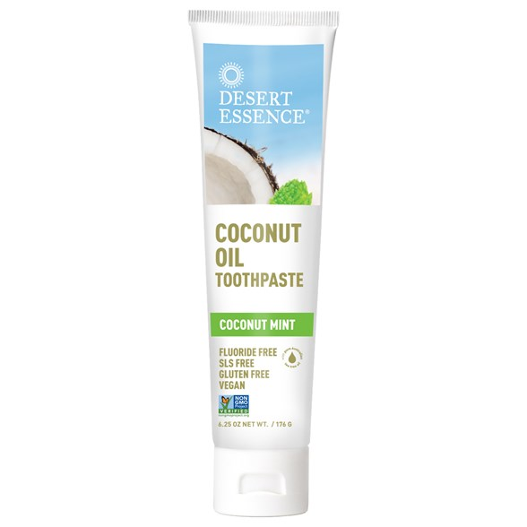 Desert Essence Coconut Oil Toothpaste - Coconut Mint, 176 g