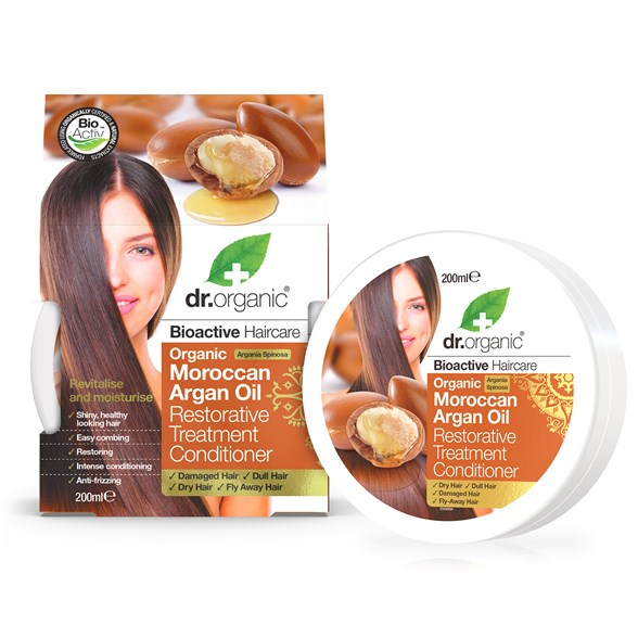 Dr. Organic Moroccan Argan Oil Restorative Treatment Conditioner, 200 ml