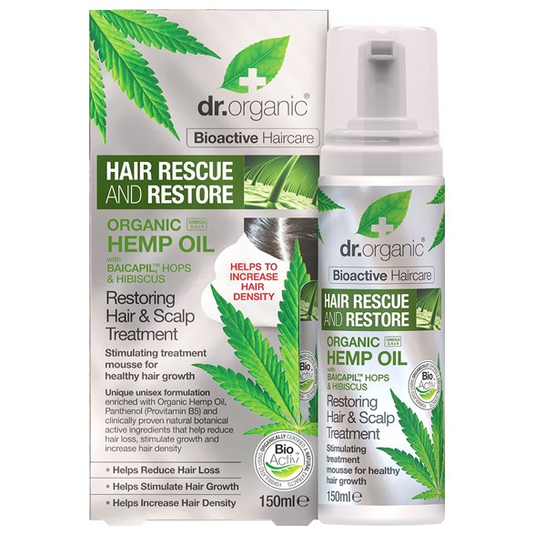 Dr. Organic Hemp Oil Restoring Hair & Scalp Treatment, 150 ml
