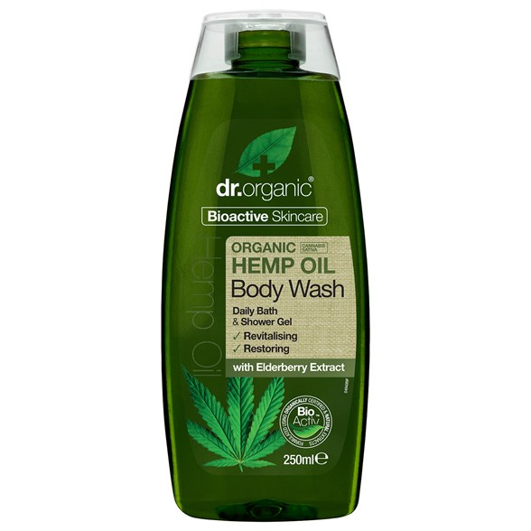 Dr. Organic Hemp Oil Body Wash, 250 ml