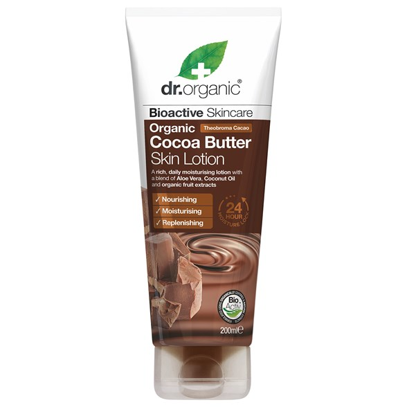 Dr. Organic Cocoa Butter Skin Lotion, 200 ml