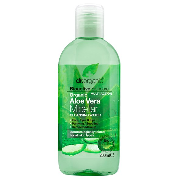 Dr. Organic Aloe Vera Micellar Cleansing Water, 200 ml