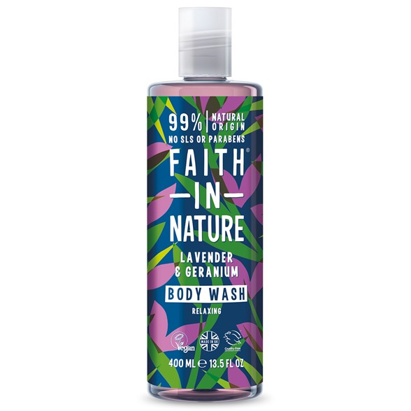 Faith in Nature Lavender & Geranium Body Wash, 400 ml