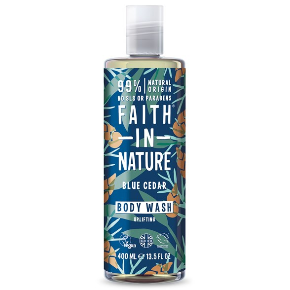 Faith in Nature Blue Cedar Body Wash, 400 ml