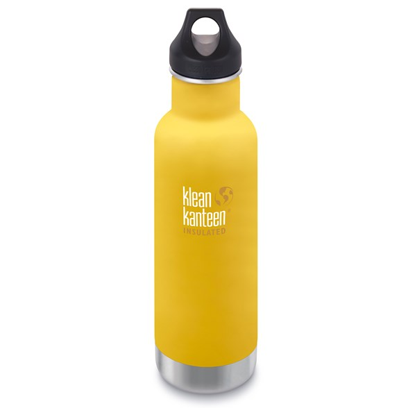 Klean Kanteen Classic Isolerad Vattenflaska - Lemon Curry, 592 ml