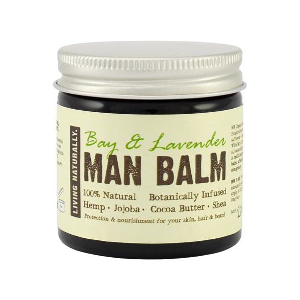 Living Naturally Bay & Lavender Man Balm, 60 g