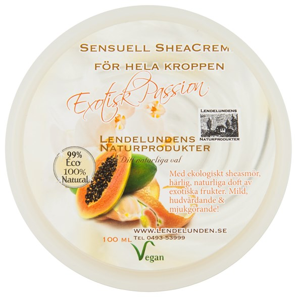 Lendelunden Sheasmör Exotisk Passion, 100 ml