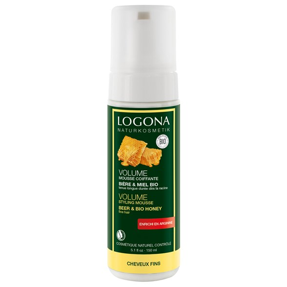 Logona Volume Styling Mousse Beer & Honey, 150 ml