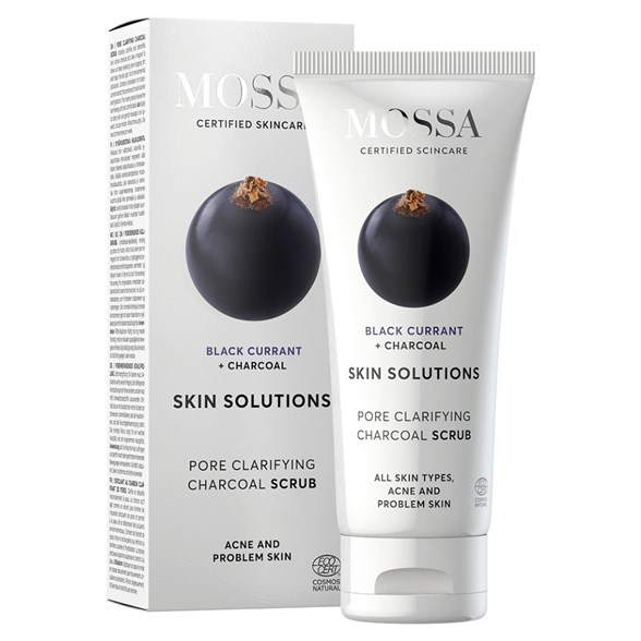 Mossa Pore Clarifying Charcoal Scrub, 60 ml