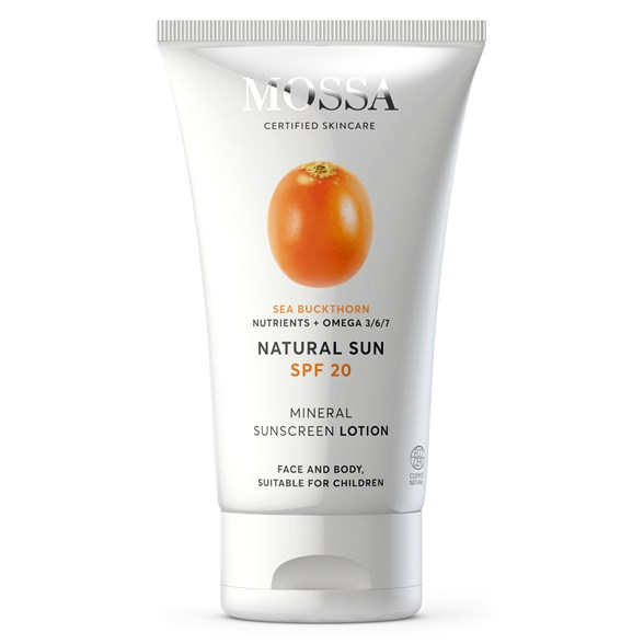 Mossa Mineral Sunscreen Lotion SPF 20, 100 ml