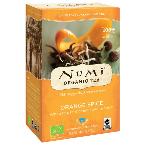 Numi Organic Tea Orange Spice, 16 påsar