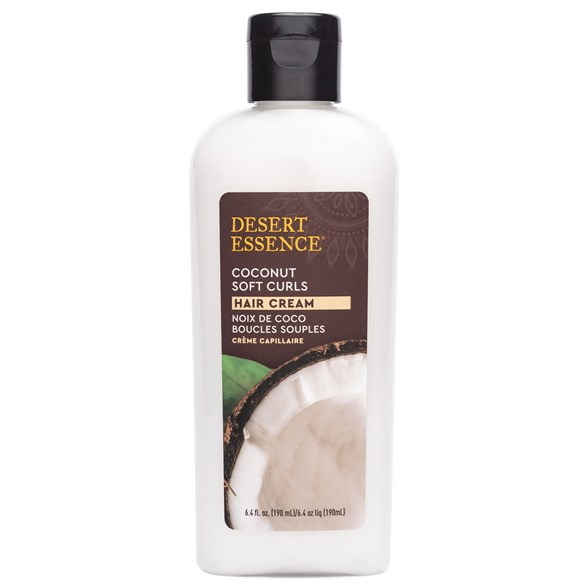 Desert Essence Coconut Soft Curls Hair Cream, 190 ml