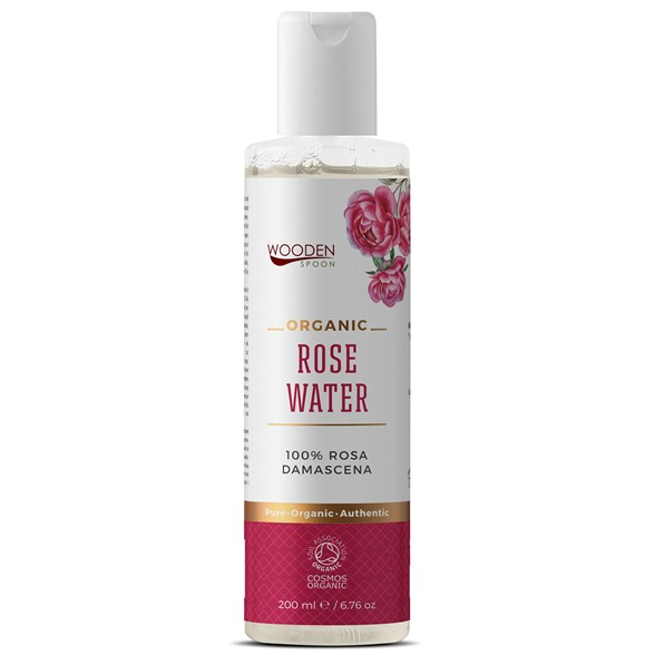 Wooden Spoon Organic Rose Water, 200 ml